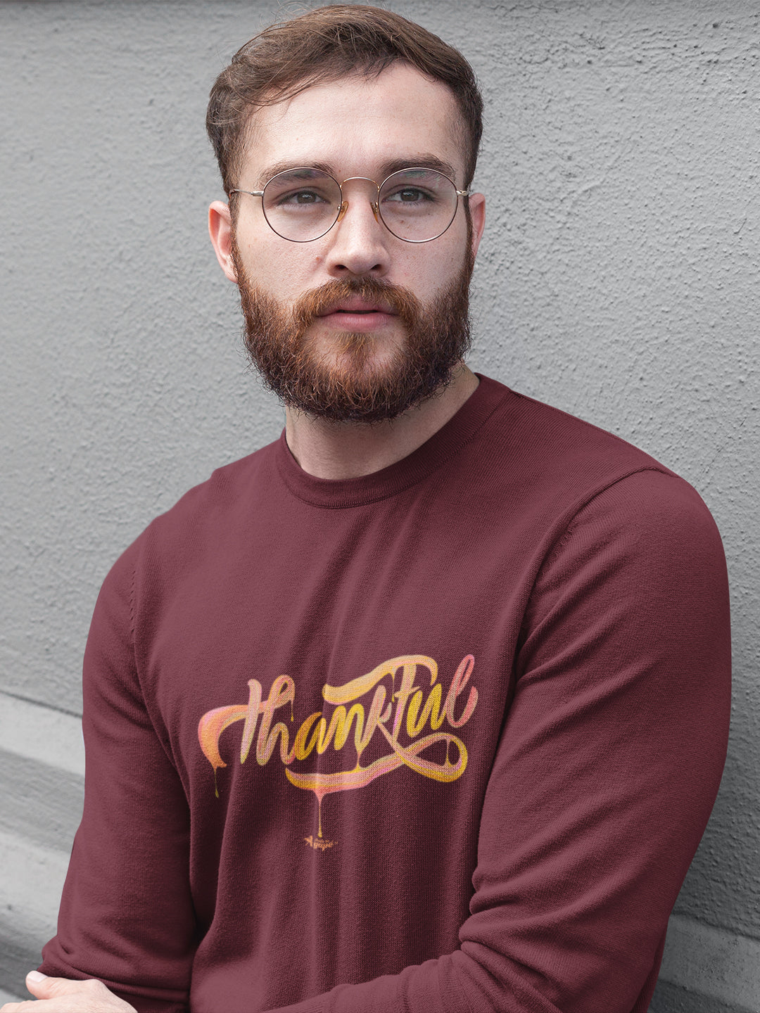 Thankful - Men's Sweatshirt-Made In Agapé
