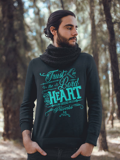 Trust In The Lord - Men's Sweatshirt-Made In Agapé