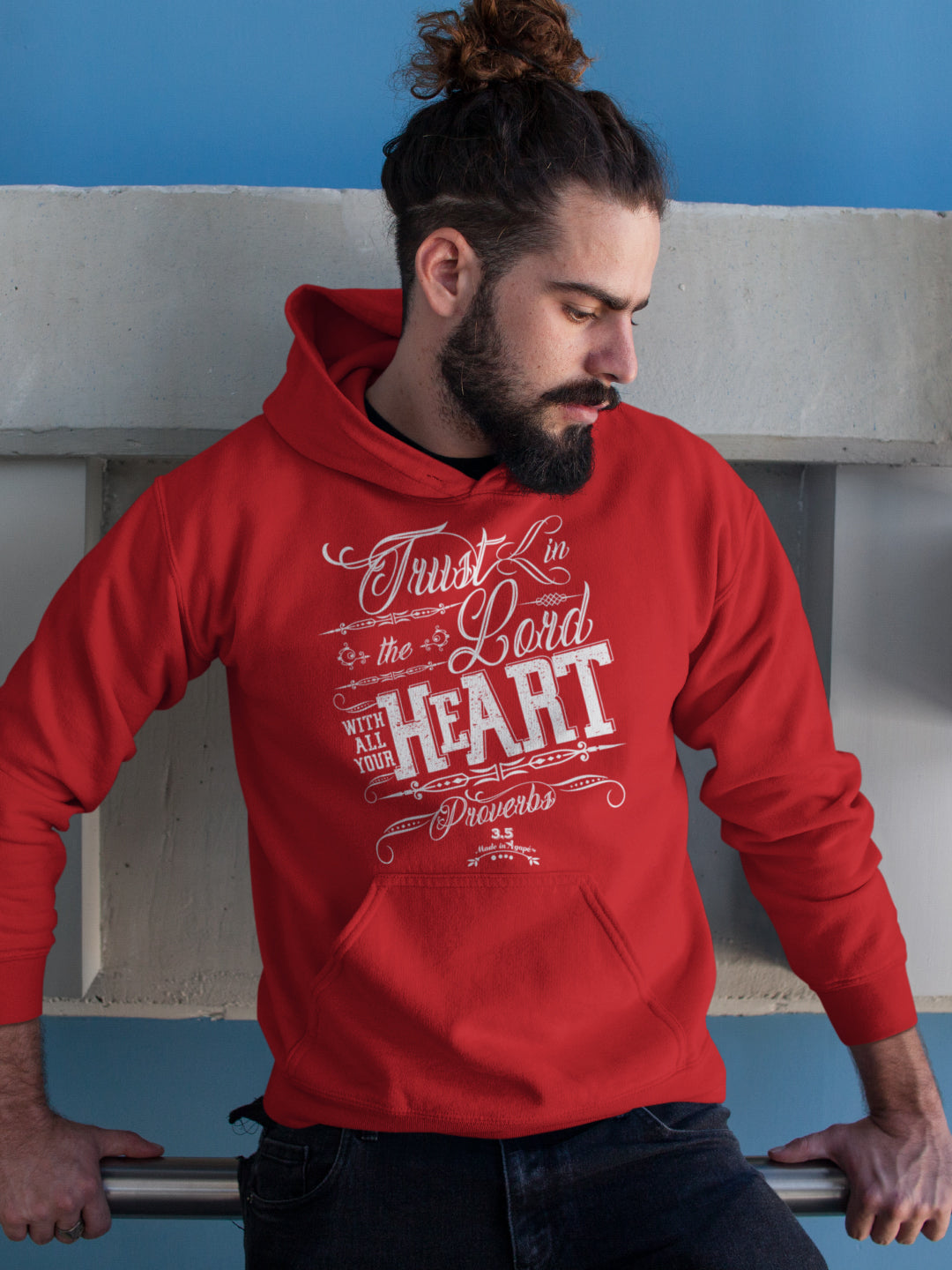 Trust In The Lord - Men's Hoodie-Made In Agapé