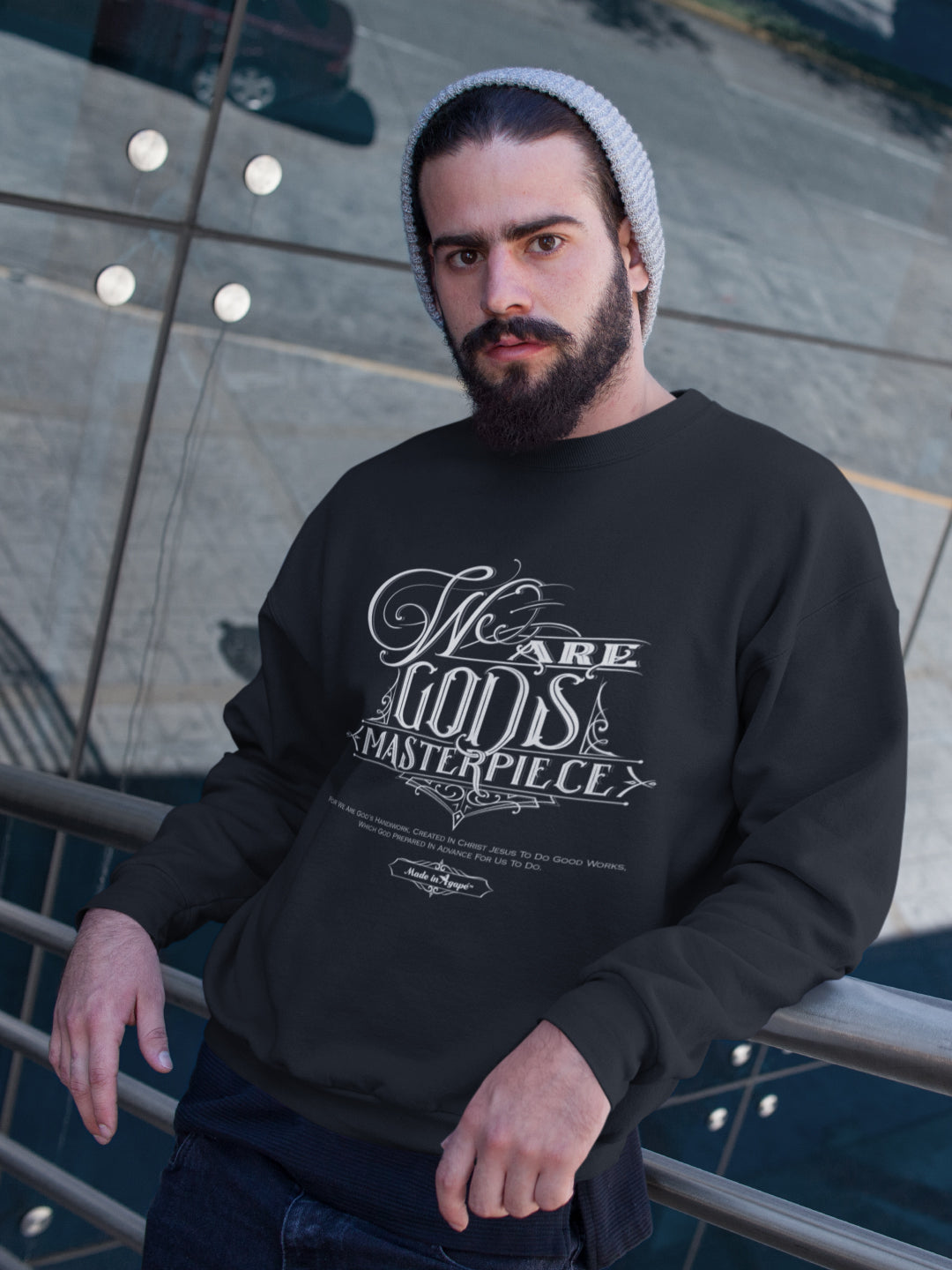 We Are God's Masterpiece - Men's Sweatshirt-Made In Agapé