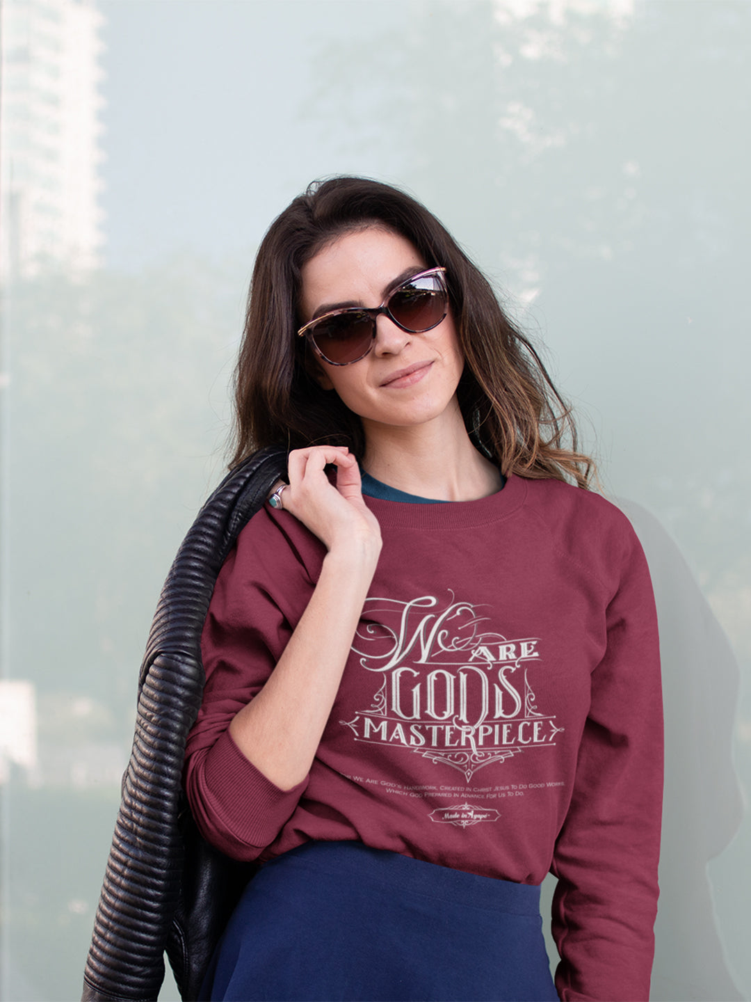 We Are God's Masterpiece - Women's Sweatshirt-Made In Agapé