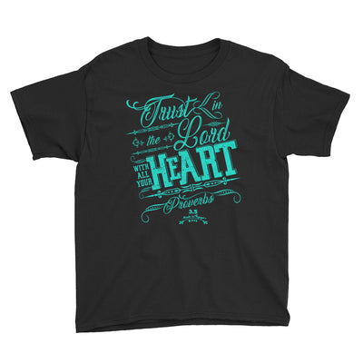 Trust In The Lord - Youth Short Sleeve Tee-Black-XS-Made In Agapé