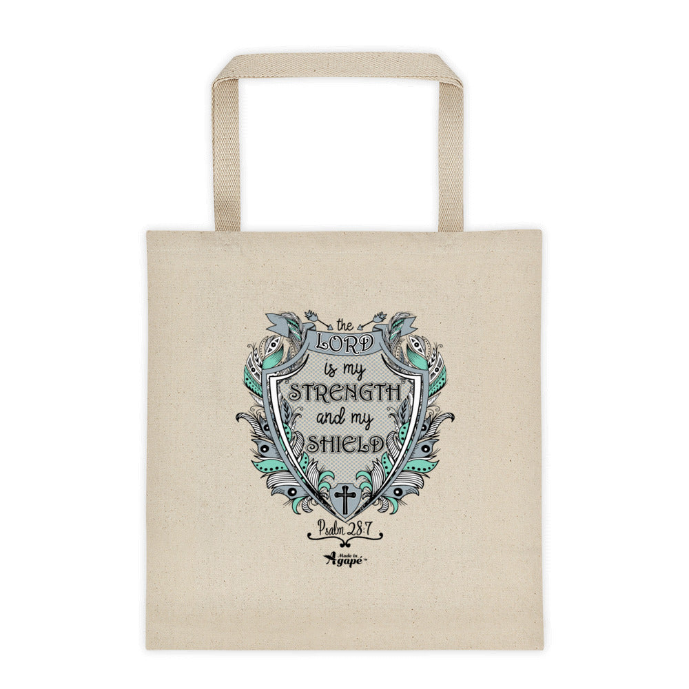 Lord Is My Strength And Shield - Tote Bag-Made In Agapé