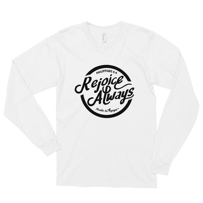 Rejoice Always - Unisex Long Sleeve Shirt-White-S-Made In Agapé