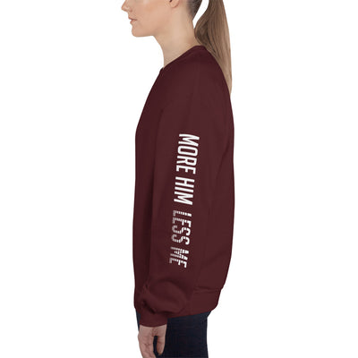 More Him Less Me - Women's Sweatshirt-Maroon-S-Made In Agapé
