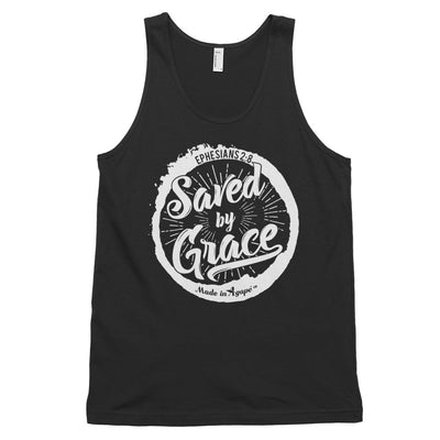 Saved By Grace - Unisex Tank-Black-XS-Made In Agapé