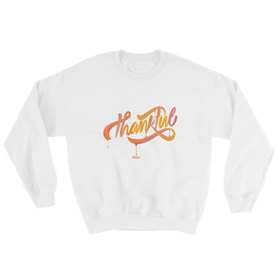 Thankful - Men's Sweatshirt-White-S-Made In Agapé