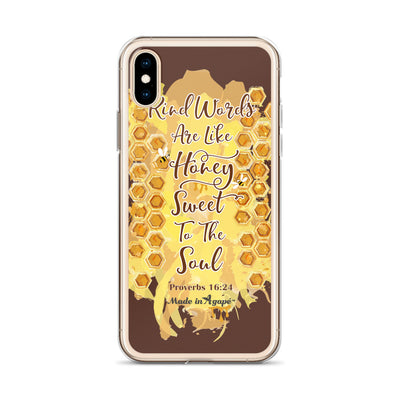 Kind Words Are Like Honey - iPhone Case-Made In Agapé