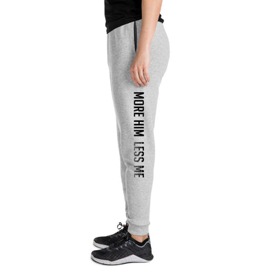 More Him Less Me - Unisex Fleece Joggers-Athletic Heather-S-Made In Agapé
