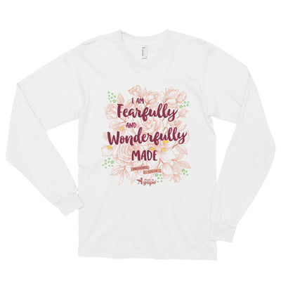 Fearfully And Wonderfully Made - Unisex Long Sleeve Shirt-White-S-Made In Agapé