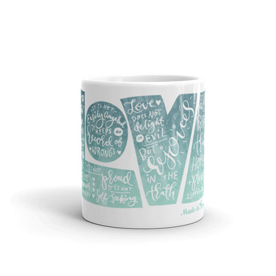 LOVE Protects - Coffee Mug-11oz-Front-Made In Agapé