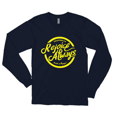 Rejoice Always - Unisex Long Sleeve Shirt-Navy-S-Made In Agapé