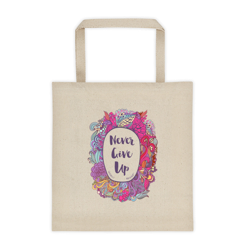 Never Give Up - Tote Bag-Made In Agapé
