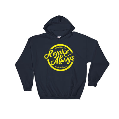 Rejoice Always -Women's Hoodie-Navy-S-Made In Agapé