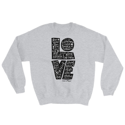 LOVE Is Patient - Men's Sweatshirt-Sport Grey-S-Made In Agapé