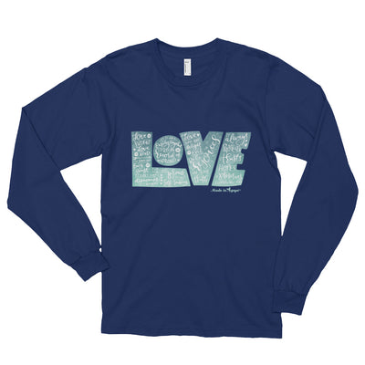 LOVE Protects - Unisex Long Sleeve Shirt-Navy-S-Made In Agapé