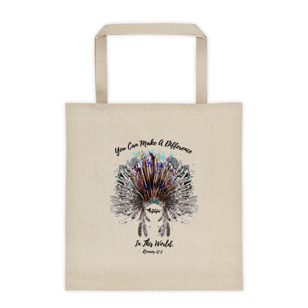 Make A Difference In The World - Tote Bag-Made In Agapé