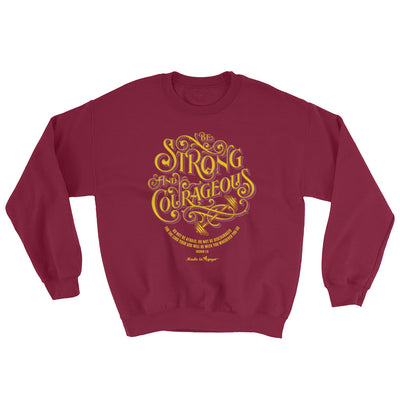 Be Strong And Courageous - Women's Sweatshirt-Maroon-S-Made In Agapé
