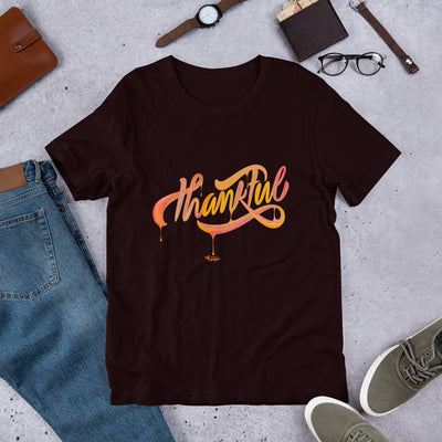 Thankful - Unisex Crew-Oxblood Black-S-Made In Agapé