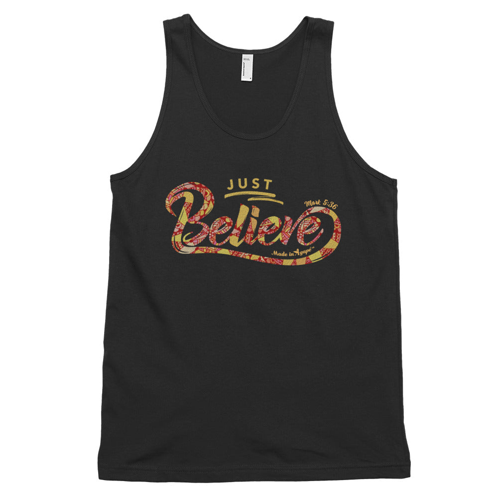Just Believe - Unisex Tank-Black-XS-Made In Agapé