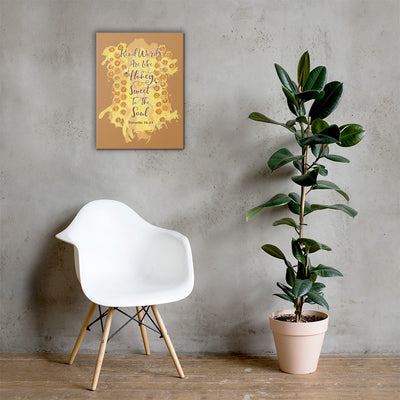 Kind Words Like Honey - Canvas Wall Art-18×24-Made In Agapé