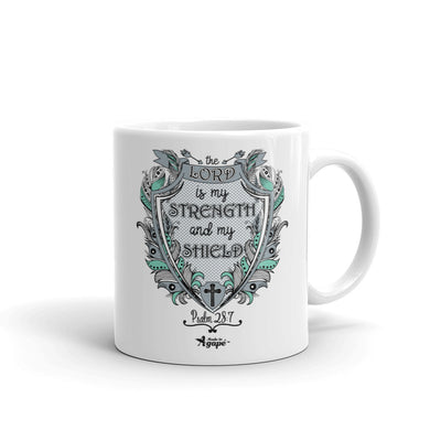 Lord Is My Strength And Shield - Coffee Mug-11oz-Made In Agapé