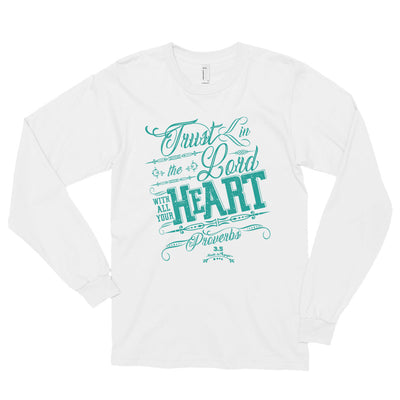 Trust In the Lord - Unisex Long Sleeve Shirt-White-S-Made In Agapé