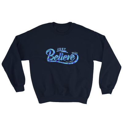 Just Believe - Men's Sweatshirt-Navy-S-Made In Agapé