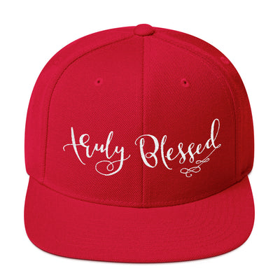 Truly Blessed - Snapback Hat-Red-Made In Agapé