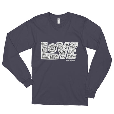 LOVE Protects - Unisex Long Sleeve Shirt-Asphalt-S-Made In Agapé