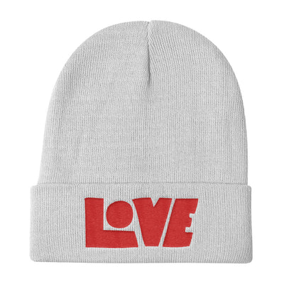 LOVE Protects - Knit Beanie-White-Made In Agapé