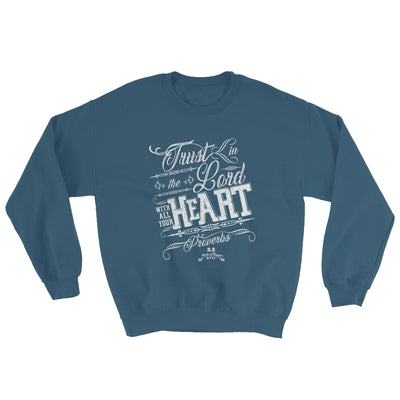 Trust In the Lord - Women's Sweatshirt-Indigo Blue-S-Made In Agapé