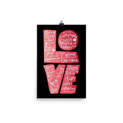 Love Is Patient - Poster-12×18-Made In Agapé