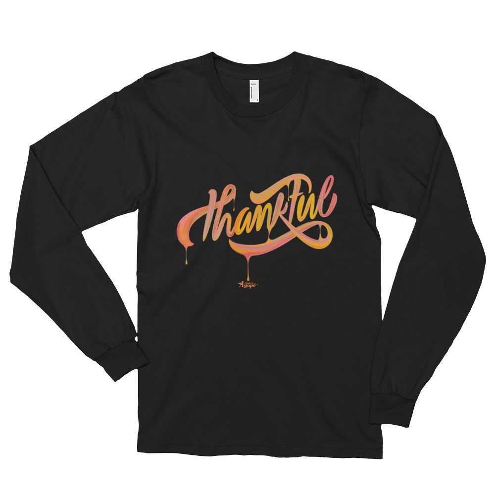 Thankful - Unisex Long Sleeve Shirt-Black-S-Made In Agapé