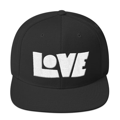 LOVE Protects - Snapback Hat-Black-Made In Agapé