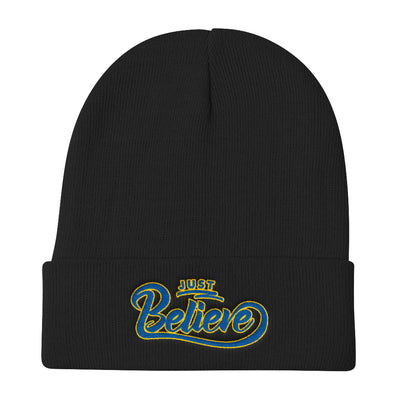 Just Believe - Knit Beanie-Black-Made In Agapé