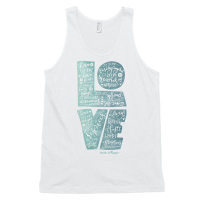 LOVE Is Patient - Unisex Tank-White-XS-Made In Agapé