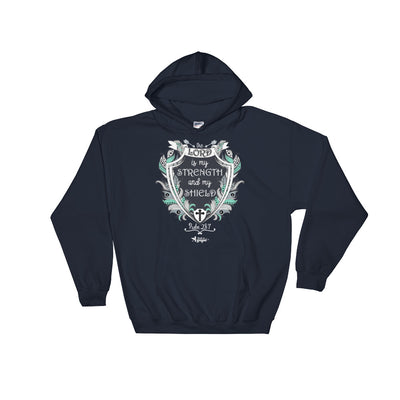 Lord Is My Strength - Men's Hoodie-Navy-S-Made In Agapé