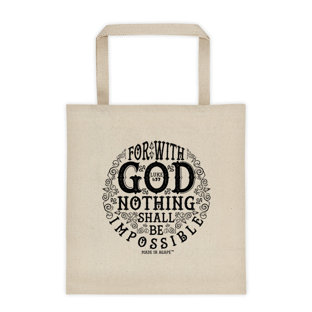 Nothing Impossible With God - Tote Bag-Made In Agapé