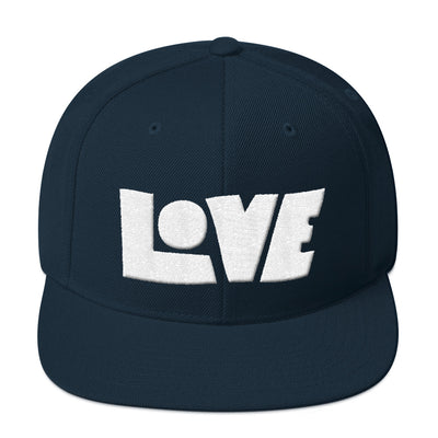 LOVE Protects - Snapback Hat-Dark Navy-Made In Agapé