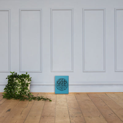 Nothing Impossible With God - Canvas Wall Art-12×16-Made In Agapé