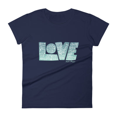 LOVE Protects - Ladies' Fit Tee-Navy-S-Made In Agapé