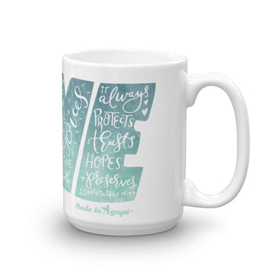 LOVE Protects - Coffee Mug-15oz-Made In Agapé