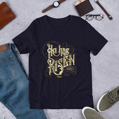 He Has Risen - Unisex Crew-Navy-XS-Made In Agapé