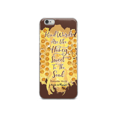 Kind Words Are Like Honey - iPhone Case-iPhone 6/6s-Made In Agapé