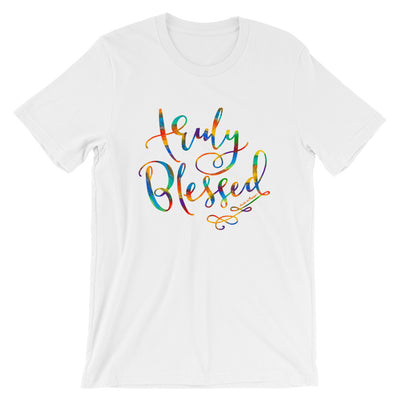 Truly Blessed - Cozy Fit Short Sleeve Tee-White-S-Made In Agapé