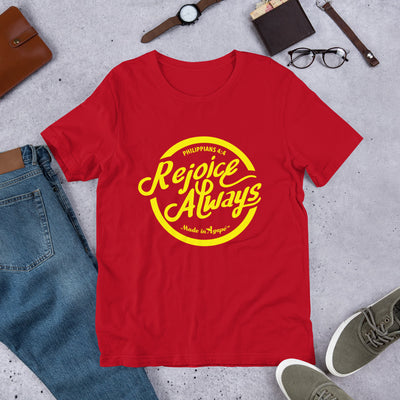 Rejoice Always - Unisex Crew-Red-S-Made In Agapé