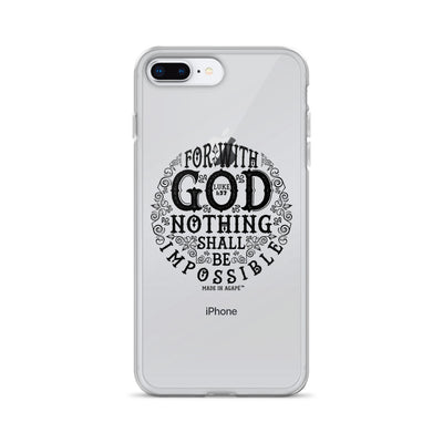 Nothing Impossible With God - iPhone Case-iPhone 7 Plus/8 Plus-Made In Agapé
