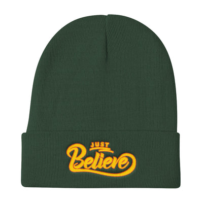 Just Believe - Knit Beanie-Dark green-Made In Agapé