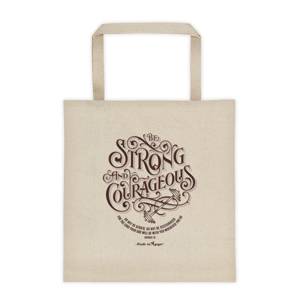 Be Strong And Courageous - Tote Bag-Made In Agapé